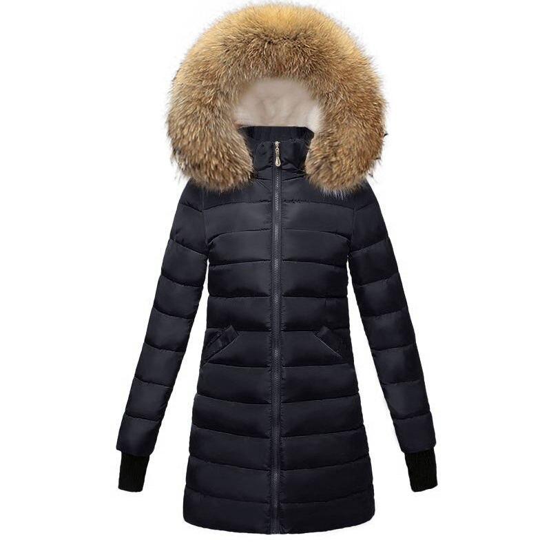 Bourgogne 2018 Col Womne Manteau Fourrure Fur Black Parka Épais 5x4HpqpnwO