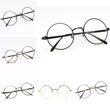 New Unisex Women Men Designer Retro Metal Frame Round Glasses Clear Lens Nerd Eyewear 6 Colors