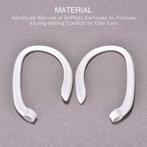 Image 5 - Luxury Anti lost earpods hook for Airpods holder headphone case silicon sport ear hook air pods protection earbuds accessory