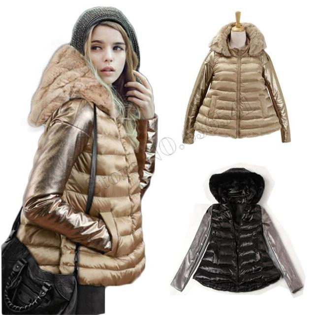 a0f63d3fe8d5a 2015 Winter Jacket Women Luxury Style Winter Parkas Down Coat Ladies Real  Rabbit Fur Collar Outerwear Down Jacket Free Shipping