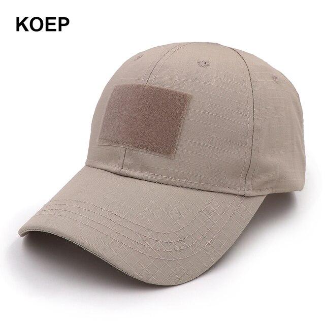 KOEP 2018 al aire libre deporte Snapback Caps sombrero de camuflaje  simplicidad Tactical ejército Camo caza 23502b3f0c5