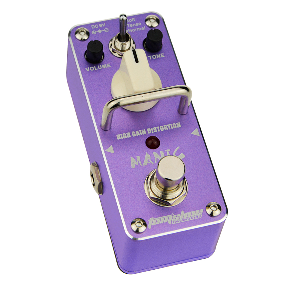 Tomsline AMC-3 MANIC High gain distortion Mini Analogue Effect True Bypass AROMA amc 3 manic high gain distortion guitar effect pedal aroma mini analogue pedals purple color true bypass guitar parts