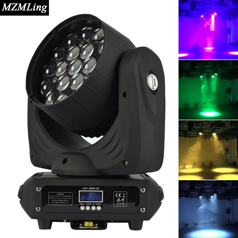19 12w Led RGBW Wash Zoom Light 16 Channels DMX512 Moving Head Light Professional Stage Light