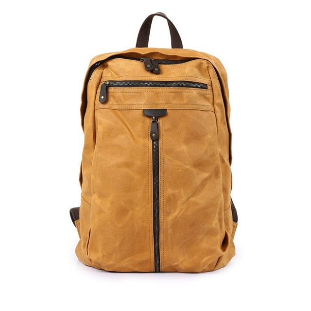 aa7f2c22f93d M143 New Vintage Waterproof Canvas Men Backpacks Female Designer Leather  School Laptop Backpacks for Girls Travel Shoulder Bag