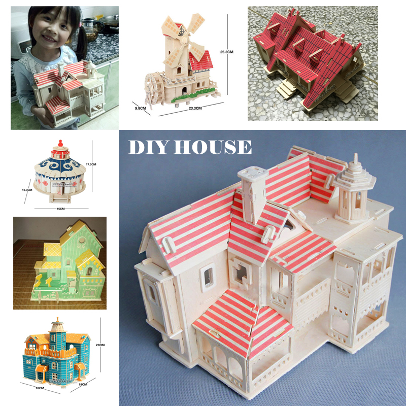 doll house furniture diy wooden house model building kits