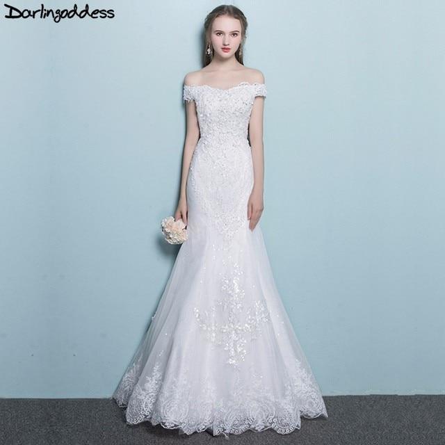 Darlingoddess Vestido De Noiva Lace Mermaid Wedding Dresses Real ...