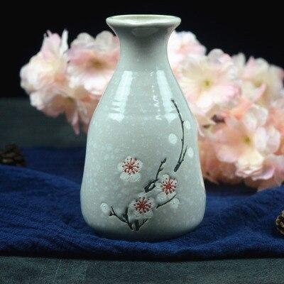 Японский ликер горшок Ретро керамика теплые емкость для ликера дистрибьютор бытовой маленькие белые вина флакон китайский barware Сакура - Цвет: 10