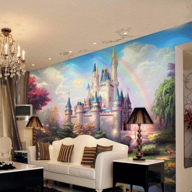 Beibehang papel de parede 3d Castle regenbogen Fototapete Familie ...