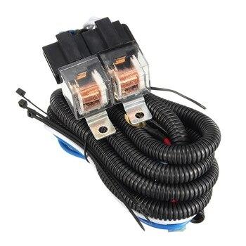 Harga Terbaik 7 Inch H4 2 Headlamp Relay Kabel Relay Harness Mobil Light Bulb Socket Plug untuk Mobil Otomatis lampu