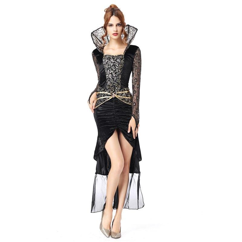 Костюм ведьмы для взрослых, сексуальные костюмы на Хэллоуин для женщин, страшные костюмы, платье, костюм вампира, Женский костюм принцессы,