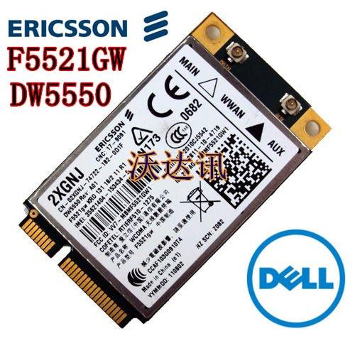 Незаблокированный модуль беспроводной связи 3G WCDMA HSPA WWAN, GPS  для устройств Dell  Модель  Ericsson DW5550 F5521gw. Разъем Mini PCI-E