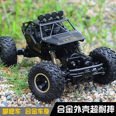 RC Car 1:16 4DW 2.4GHz Metal Rock Crawlers Rally Climbing Car Double Motors Bigfoot Car Remote Control Model Toys for Boys.
