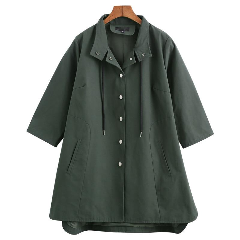 Plus Size 10XL 9XL 8XL 4XL Women s Long Trench Coats 2018 Casual Coat Women Overcoat
