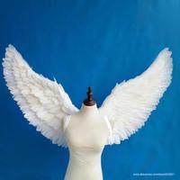 Чистый белый взрослых детей Крылья Ангела красивые подарки на день рождения детский день Grand даже украшения реквизит EMS бесплатная доставка