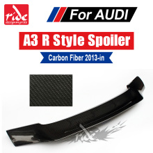 цена на A3 S3 Sedan R style Highkick True Carbon fiber Rear trunk spoiler Tail Fits For Audi A3 S3 wing Rear Trunk Spoiler Lip 2013-2018