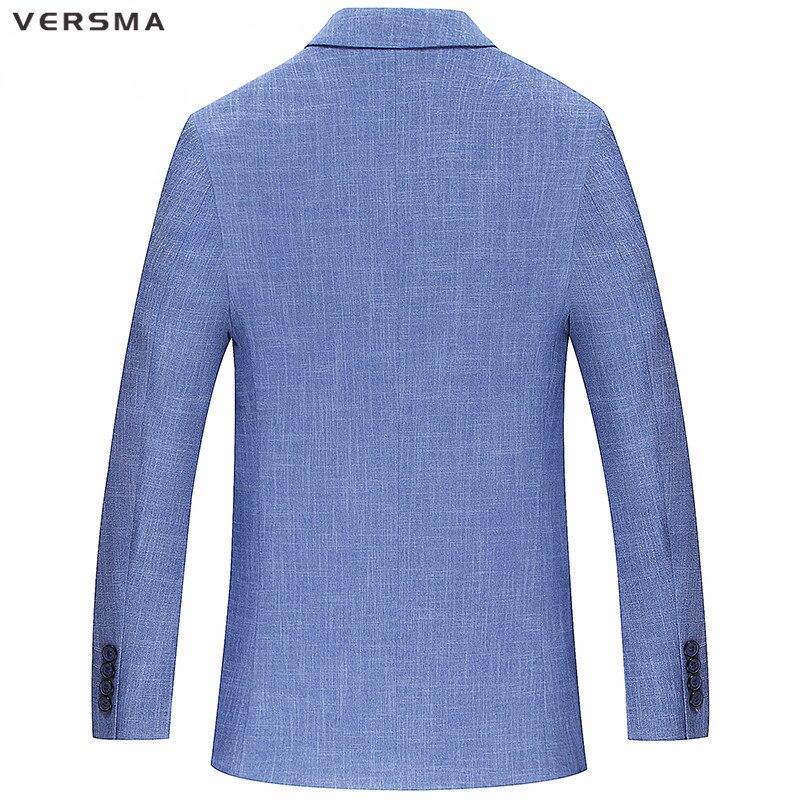 Versma Solide Blue Costume Blazer Vestes 2017 Costumes Couleur Formelle De Light Styles Soirée Veste Élégant Hommes Blazers Mens Casual rqOr4Ux