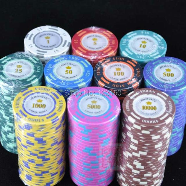 bar mc10 - Clay Poker Chips