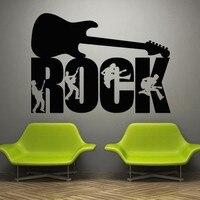 Music Rock Music Artist Style Guitar Bass Microphone Mural Vinyl Wall DecalArt Wall Sticker DJ Band