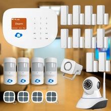Chuangkesafe Chuangkesafe WIFI/GSM Smart Home Sistema de Seguridad para el Hogar Antirrobo Interder + Pet-friendly + IP CCTV cámara