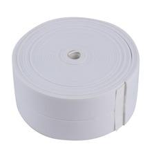 3.4 м * 38 мм DIY самоклеющиеся Водонепроницаемый белый mildewproof уплотнения герметик полосы Клейкие ленты мозаика ПВХ стикер для ванная комната Кухня