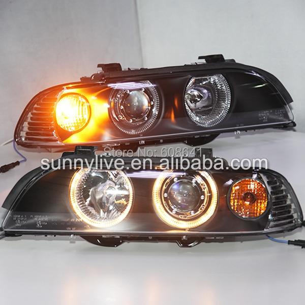 Pour BMW E39 LED Ange Yeux Tête Lampe 1995-2003 année LF