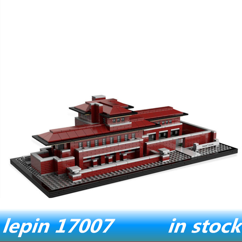 Lepin 17007 lepin creator Architecture The Robie House Set legoing 21010 legoing creator Architecture building block bricks toys penser l architecture