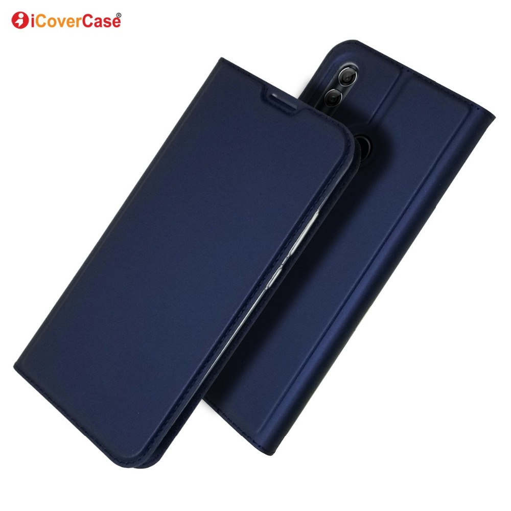 Ultra-thin Magnetic Cover PU Leather Wallet Flip Stand Case for Huawei P smart 2019 Plus