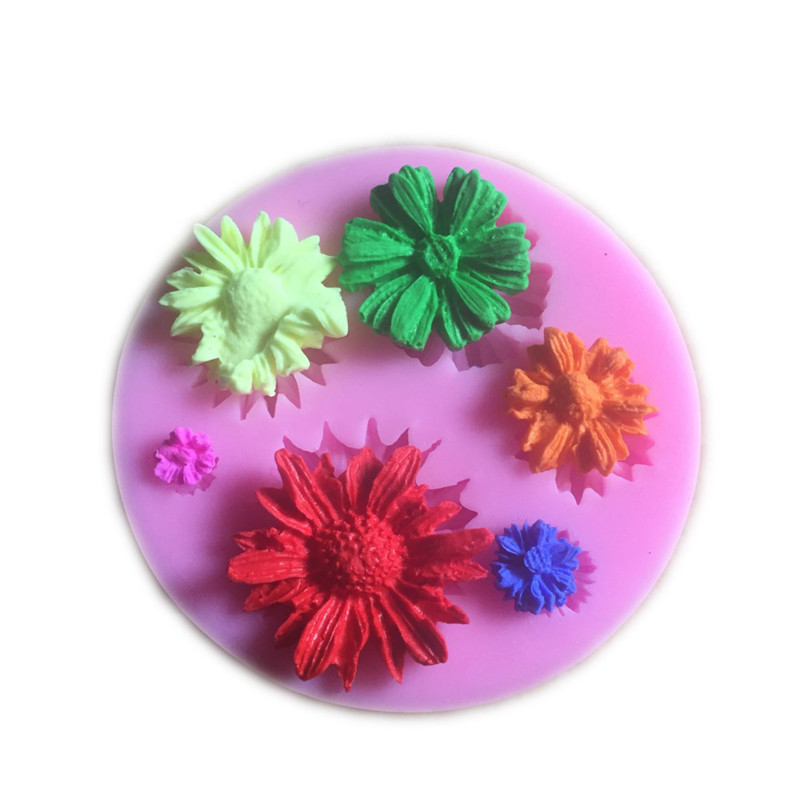 3d Flower Silicone Baking Molds Easy To Use Suitable for Chocolate And Ice cream 8