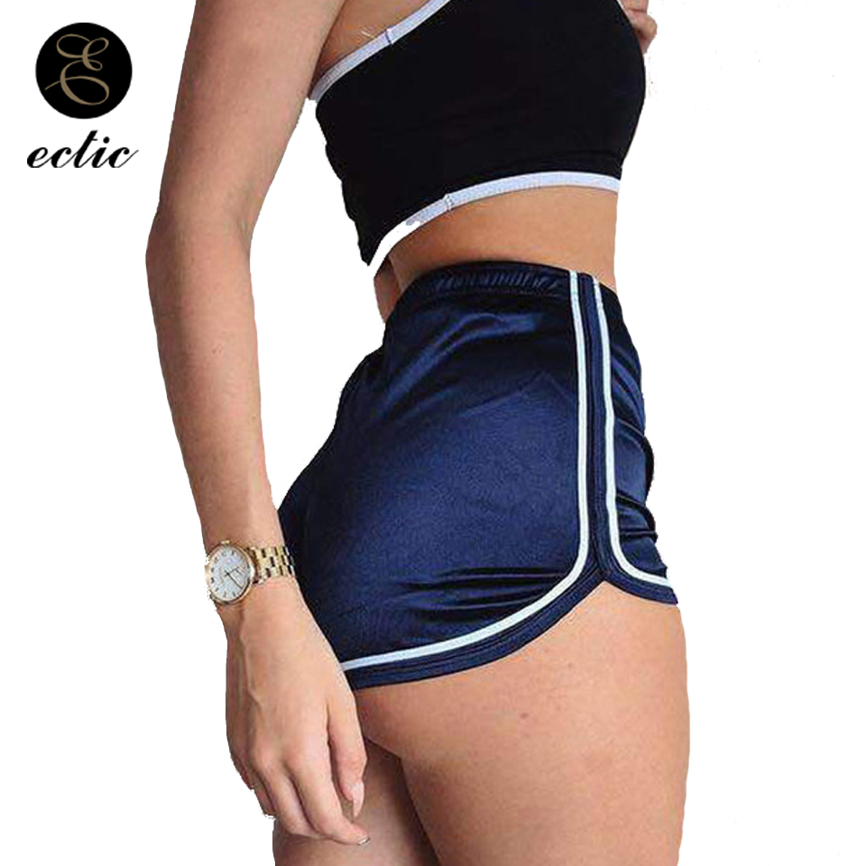 Pole Dance Fitness Falda Pantalon Corto High Waist Satin Smooth Holographic Shorts Hotpants Shiny Women Biker Shorts Edgy Twerk