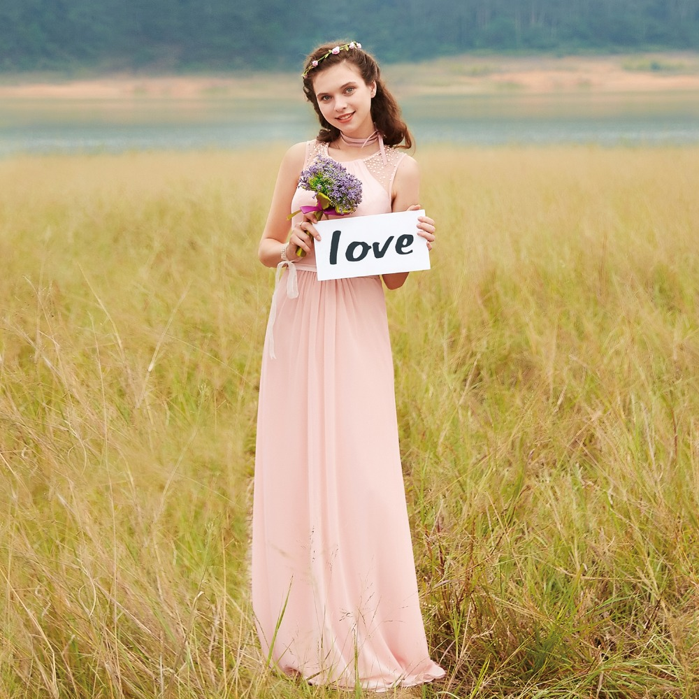 Online buy wholesale bridesmaid dresses size 0 from china bridesmaid dresses ep08742 pink peach women elegant chiffon empire sleeveless lace plus size long bridesmaid dresses ombrellifo Gallery