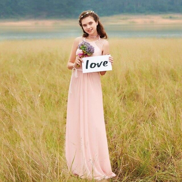 Immer Hübsches Brautjungfernkleider EP08742 Rosa Pfirsich Frauen ...
