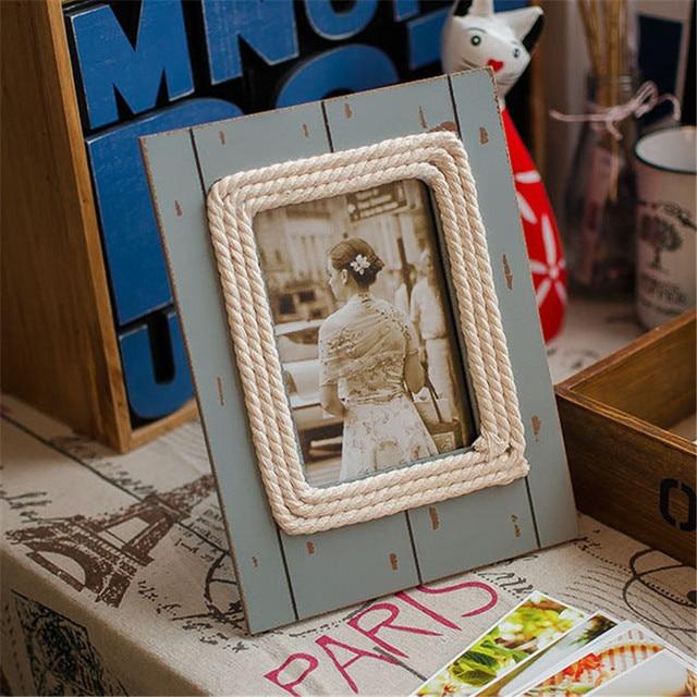 Make Old Wood Resin Europe Style Zakka Groceries Frame Blinds ...
