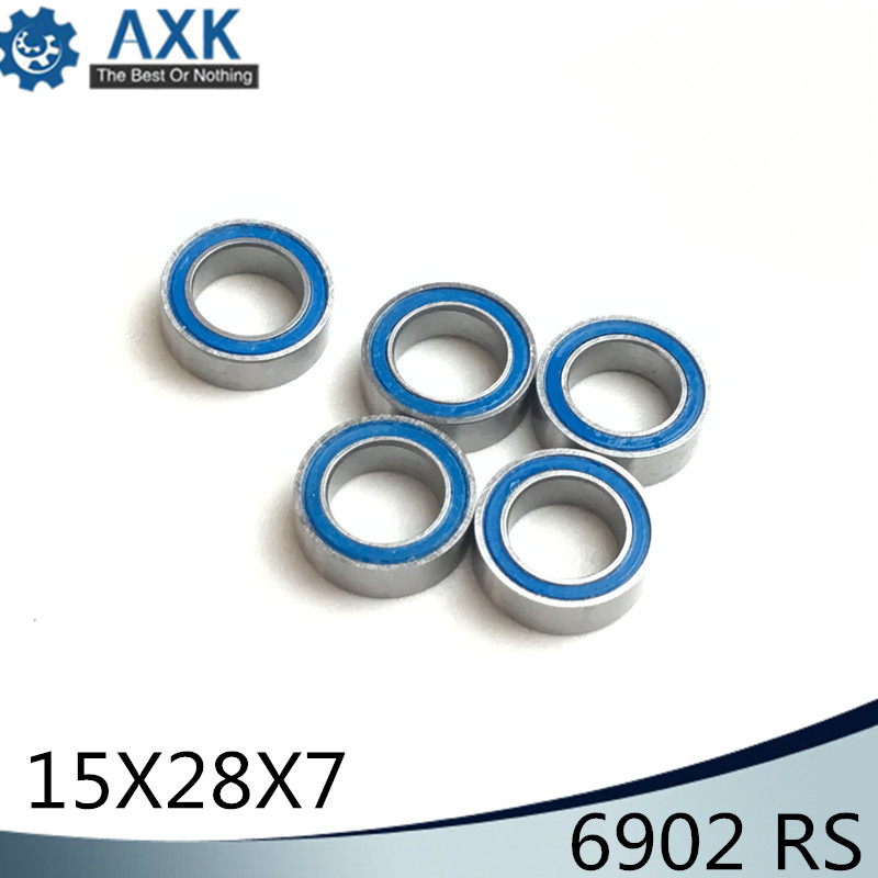 6902RS Bearing 10PCS 15x28x7 mm ABEC-3 Hobby Electric RC Car Truck <font><b>6902</b></font> <font><b>RS</b></font> 2RS Ball Bearings <font><b>6902</b></font>-2RS Blue Sealed image