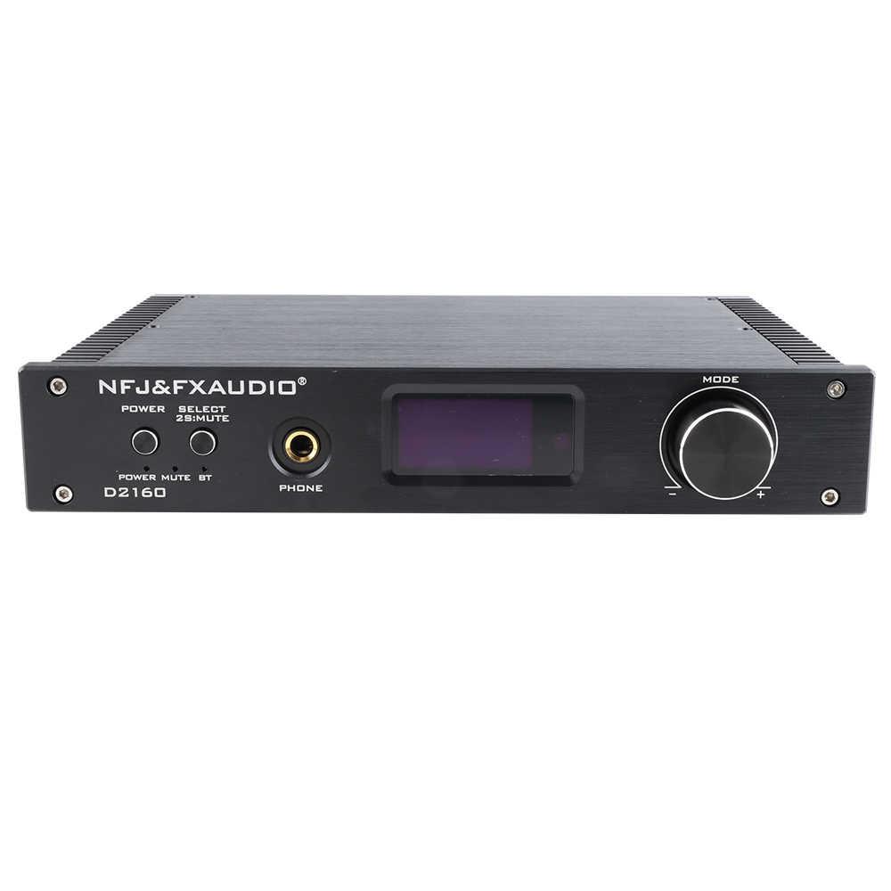 NFJ & FXAUDIO D2160 USB HIFI Bluetooth 4,2 150 Вт * 2 полный цифровой усилитель мощности выход наушников AMP CSR64215 AK4418 Поддержка APTX