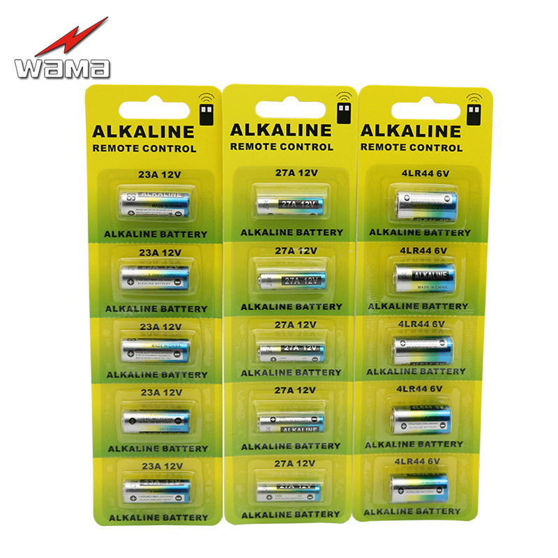 5x Wama 23A <font><b>12V</b></font>+5x 27A <font><b>12V</b></font>+5x 4LR44 6V Alkaline Primary Dry <font><b>Batteries</b></font> Car Remote Electronic <font><b>Battery</b></font> Wholesales Price PVC <font><b>Pack</b></font> image