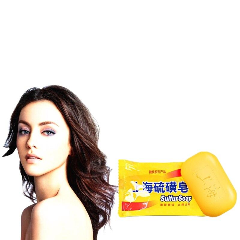 85g Shanghai Sulfur Soap Acne Psoriasis Seborrhea Mite Health Beauty Care Anti-bacterial Anti-inflammatory Soap