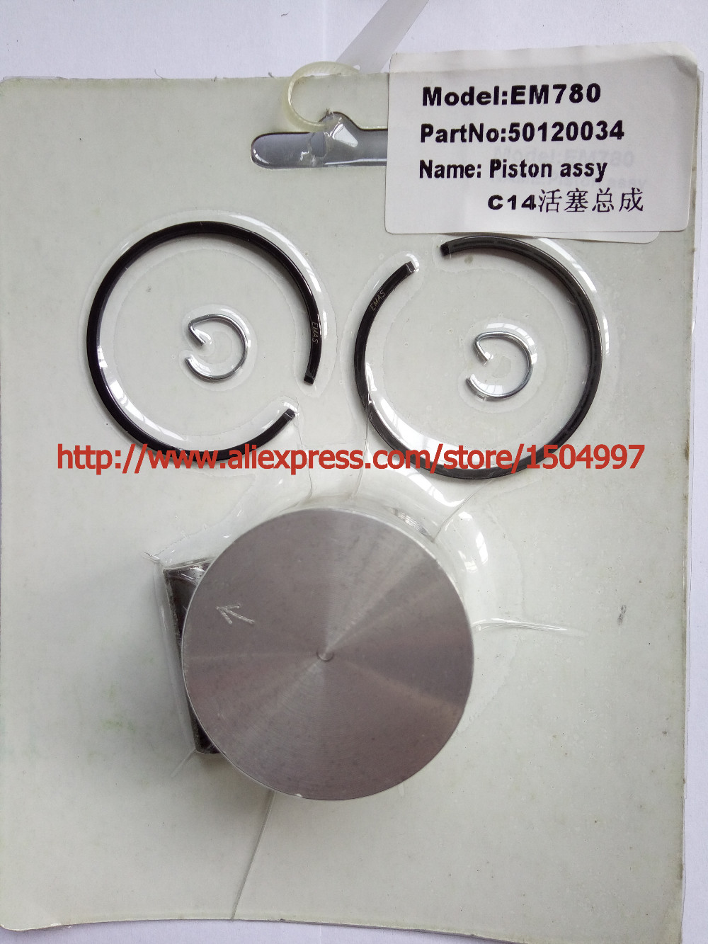 Piston Kit with Pin Rings Clips assy Set kit for fit Piston Kit fit OLEO-MAC 941 C/CX, BC420 T, GS410 CX, Sparta 42, 44 (40mm) 38mm size 10mm piston kit and crankshaft made up cylider kits fit ms170 ms180