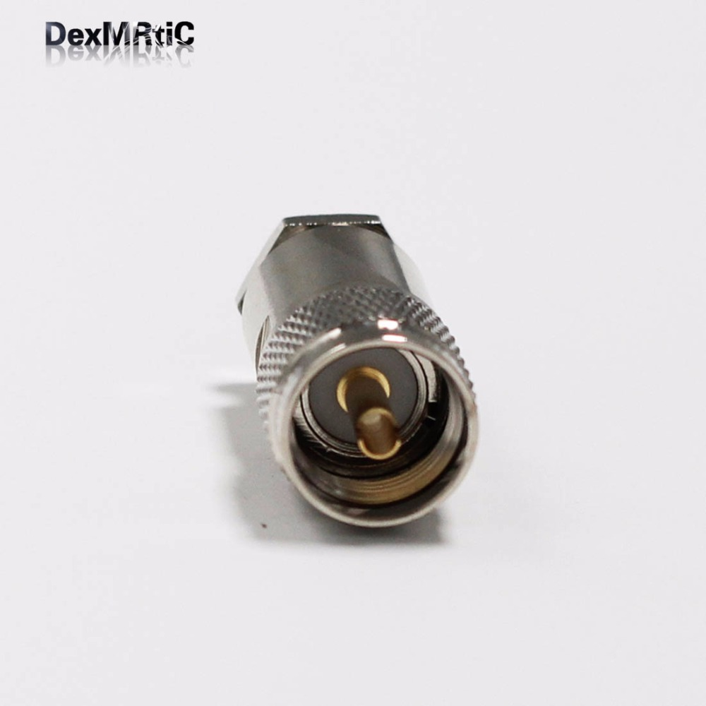 Brand New 1pc New UHF Male Plug Connector With For  RG8,RG213,LMR400  Straight   Nickelplated  Wholesale
