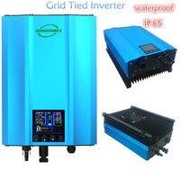 1200 W do laço da grade power inverter PV AC230V 85 de entrada-130 v isolamento de Alta freqüência de descarga da bateria solar à prova d' água inversor IP65