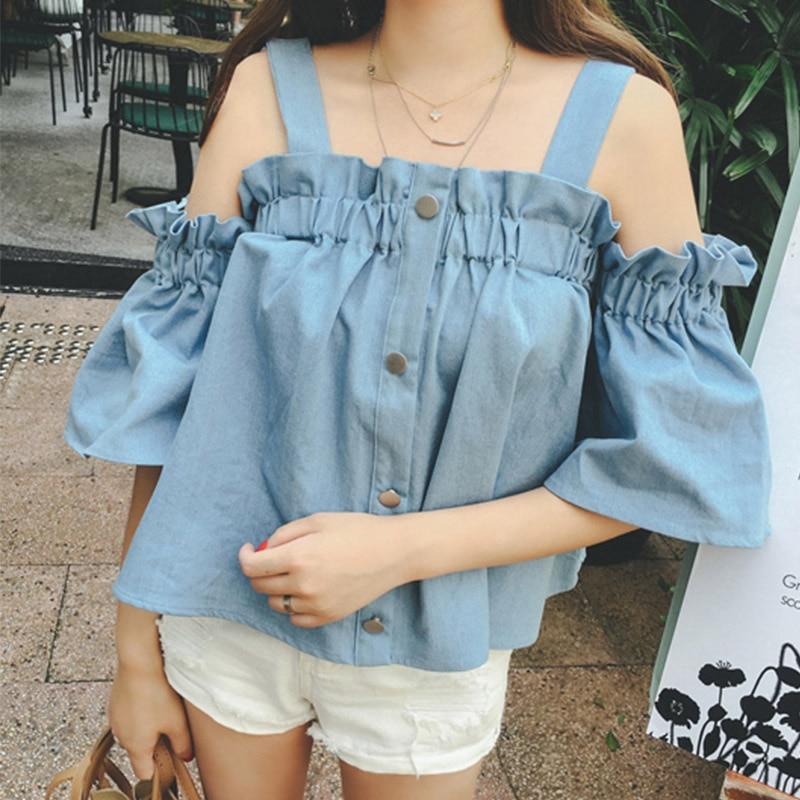 Sexy Off Shoulder Women Blouse 2018 Casual Elastic Slash Neck Strapless Crochet Hollow Out Tops Shirts Plus Size Blusas