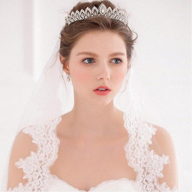 CHENLVXIE Princesa Sparkling Partido Matrimonio Adornos Para el Pelo Con  Cristales Diadema Nupcial Pelo de La 0cccb5f0ad09