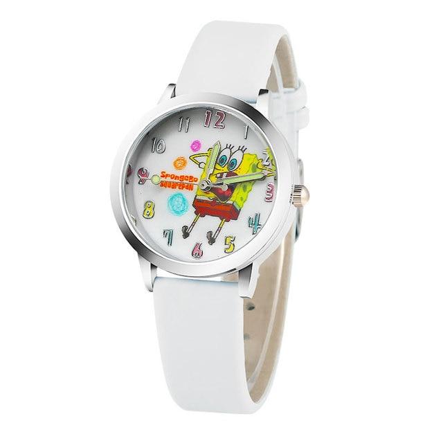 b1d2f7ecbed Novas Crianças Dos Desenhos Animados assistir crianças Bob Esponja Calça  Quadrada presente Relógios explosão Menina Moda