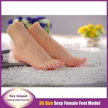New arrival women size 35 fake Feet Worship imitation simulation silicone font b sex b font