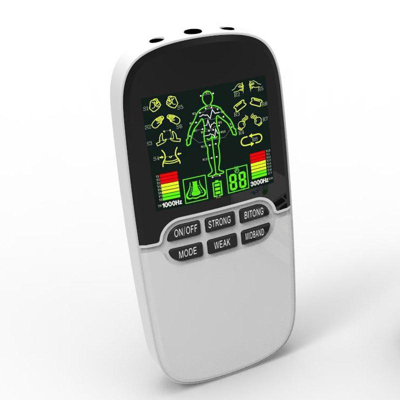 Opieka zdrowotna stymulator mięśni dziesiątki akupunktura masażer szyi powrót maszyna Fat Burner Pad Laser Bionase nos Rhinits 3 wyjście