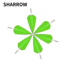 3pcs Tiro Con Larco Freccia di Colore Verde Caccia Sharp Broadhead Punte Punto Usato Per Esterno Arco Freccia Tiro