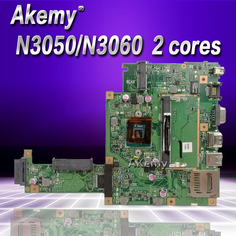 Akemy X453SA Laptop Motherboard N3050 N3060 2 cores For ASUS X453S X453SA X453 F453S Mainboard test