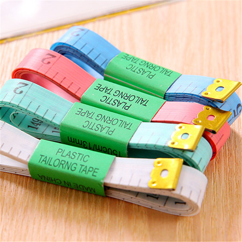 1 Piece 1.5m Long Colorful Portable Soft Rule Simply Exquisite Useful Tape Measure Centimeter Height Bust Waistline For Gift
