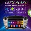 7 pulgadas Android 6.0 (bits) DDR3 2G/16G/4G LTE GPS Del DVD Del Coche la Unidad Principal de Radio Para Hyundai ix35/Tucson (09 ~ 15) # FD-2459