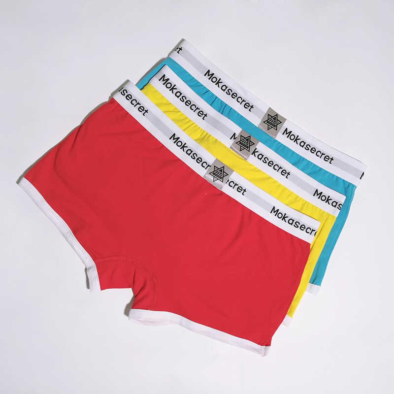 6 צבעים תחתוני גברים כותנה בוקסר 3 יח'\חבילה פאוץ פתוח מתאגרפים מכנסיים קצרים קלווין Calzoncillos Hombre Cueca תחתונים מתאגרפים גזעים