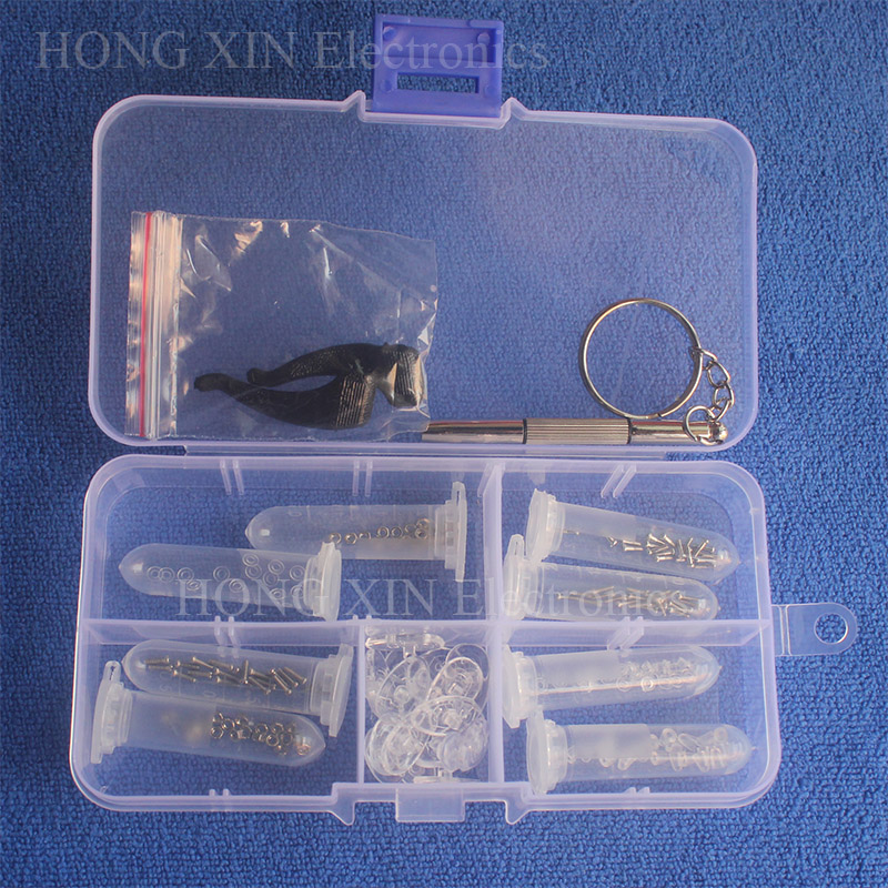 Popular Eyeglass Sun Glasses Nose Pad Optical watch Screwdriver Repair Screws Nut Tool Assorted Kit with Box Repair glasses free shipping 250g far from pretty tea raw tea page 2